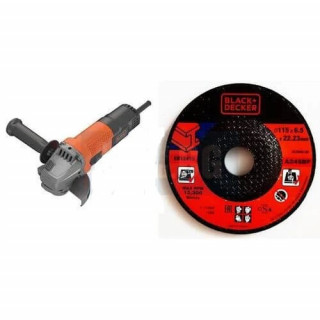 Black & Decker Ъглошлайф Black and Decker BEG110A / 750 W, 115 mm / + диск за шлайфане на метал