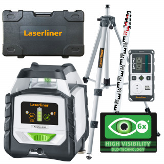 Зелен линеен лазер DuraPlane G360 set 175 см