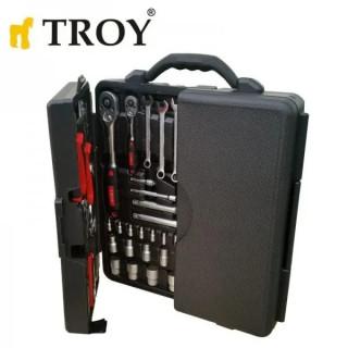 Комплект ръчни инструменти TROY 21910 / 110 части, в куфар