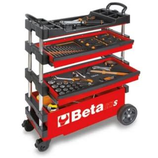 Сгъваема количка за инструменти, червен цвят, Beta Tools