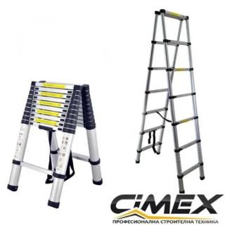 Tелескопична А-образна стълба Cimex DBL TELELADDER3.8