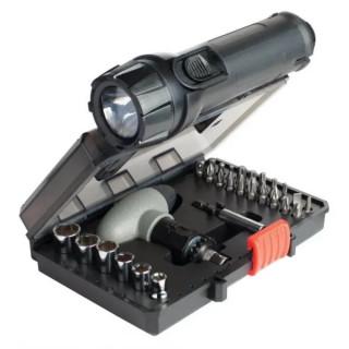 Накрайници, битове и дръжка Black&Decker A7224 30 части + LED лампа + сигнална жилетка