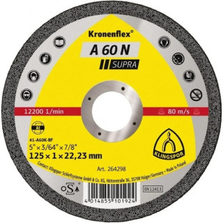 Диск за рязане на алуминий KLINGSPOR А 60 N Supra 115x1x22 mm