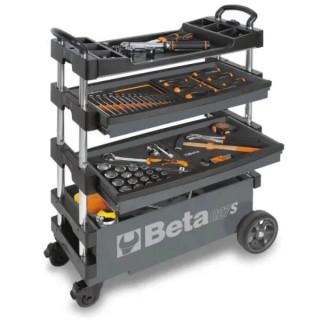 Сгъваема количка за инструменти, сив цвят, Beta Tools