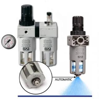 Пневмогрупа 1/2″ автоматичен дренаж, FRL 200 SA