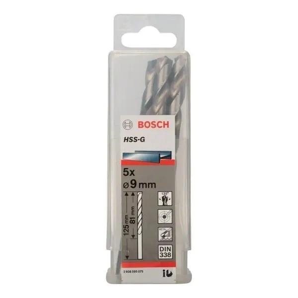 Свредло HSS-G за метал на Bosch 9.0 mm комплект 5 броя