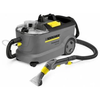 Екстрактор за почистване на килими и мокети Karcher Puzzi 10/1 с подова и ръчна дюза / 1250 W , 220 bar , 25 m² / ч /
