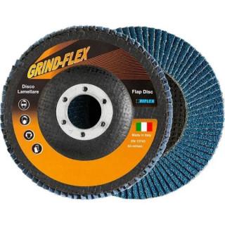 Диск Fervi ламелен от шкурка за шлайфане на метал и неръждаема стомана 125х22.23 мм, P80, Riflex Grindflex Bigger