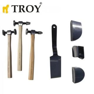 Комплект чукчета и наковалня TROY 27299 / 7 елемента