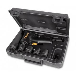 Комплект: Реверсивен ударен гайковерт и 5 бр. ударни вложки, в пластмасов куфар, 1927XM/K5, Beta Tools