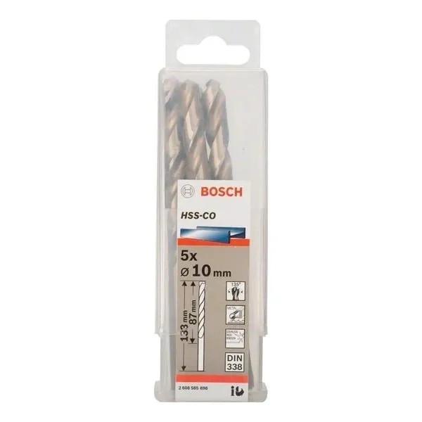 Свредло HSS-Co Standard line за метал на Bosch 10.0 mm - 5 броя