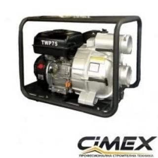 Бензинова водна помпа за отпадни води (траш помпа) Cimex TWP75