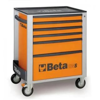 Количка за инструменти BETA, 6 чекмеджета, оранжев цвят