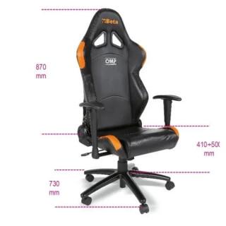 Стол за офис, черен, 9563P, Beta Tools