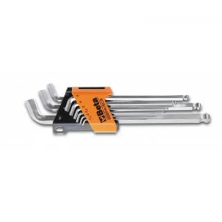 Комплект шестограми с обла глава и скъсено рамо на 110° (9 бр) на държач Beta Tools 96 BPA/SC9