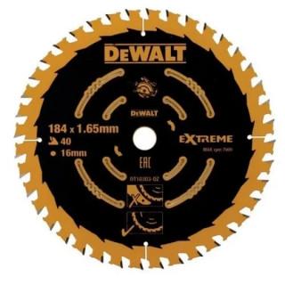 Циркулярен диск за дърво DEWALT DT10303 184 X 16 X 40 зъба