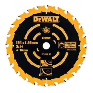 Циркулярен диск за дърво DEWALT DT10302 184 X 16 X 24  зъба