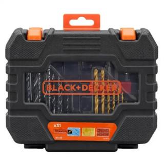 Black & Decker 31 части свредла, битове и накрайници