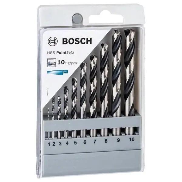 Комплект свредла Bosch HSS PoinTec 10 броя различни размери