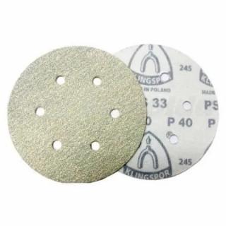 Шлифовъчен диск велкро бял KLINGSPOR PS 33 CK - P100 / Ф 150 мм