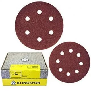 Шлифовъчен диск велкро KLINGSPOR PS 22 K - P80 / Ф 125 мм