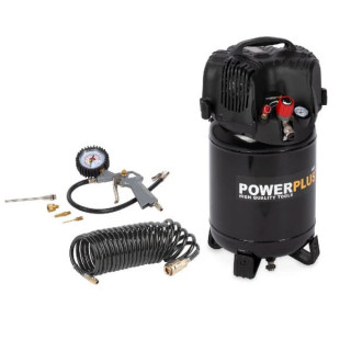 Безмаслен компресор POWER PLUS POWX1731 / 1.1 kW, 24 L, 8 bar