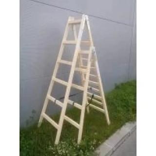 Дървена двураменна стълба OMS / 1,5 м-5 /