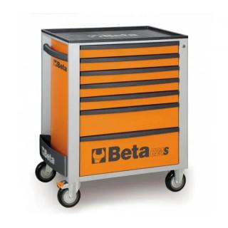 Количка за инструменти Beta с ABS капак, 7 чекмеджета, Оранжева
