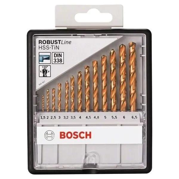 Свредла за метал Bosch HSS-TiN  комплект 13 броя