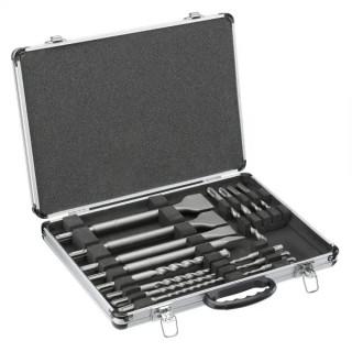 Black & Decker 15 бр. Шило, секач, лопатки и свредла SDSPLUS , метален куфар