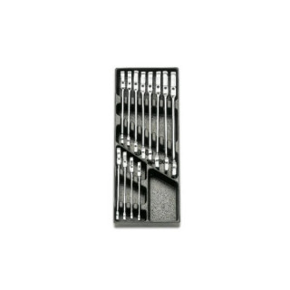 Комплект ключове звездогаечни с тресчотка на чупеща глава в пластмасова тава 12 броя - 2424T, Beta Tools