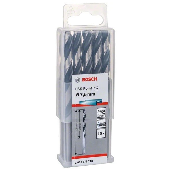 Свредло HSS за метал Bosch PoinTec 7.5 mm /комплект 10 бр