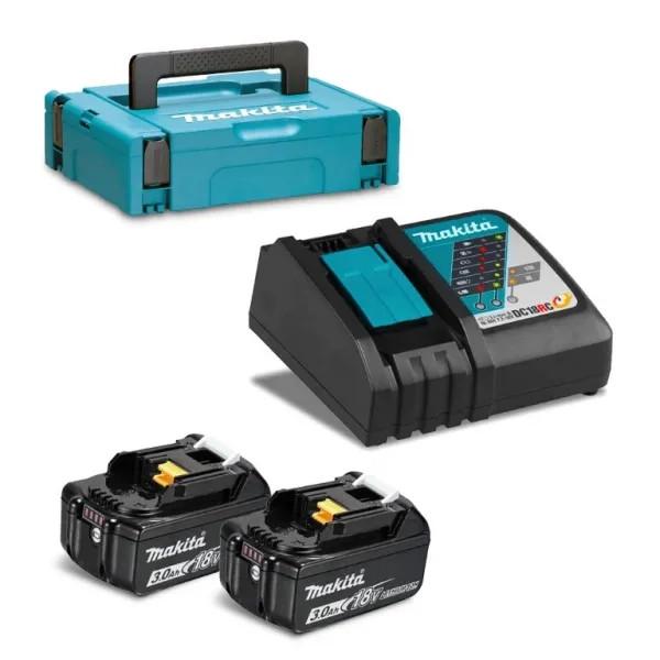 Батерия Makita Li-Ion комплект със зарядно устройство 18 V, 3 Ah, 2 бр.