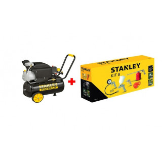 Компресор STANLEY D211/8/24S 24 л. + 9045671 Stanley /8 части за компресор/
