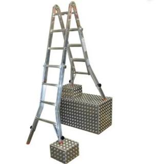 Алуминиева телескопична стълба KRAUSE TeleVario 4+4