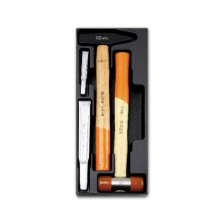 Комплект чукове и секачи 4 броя в пластмасова тава, T234-4, Beta Tools