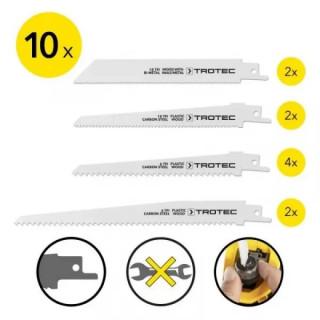 Комплект ножове за саблен трион TROTEC, 10 броя