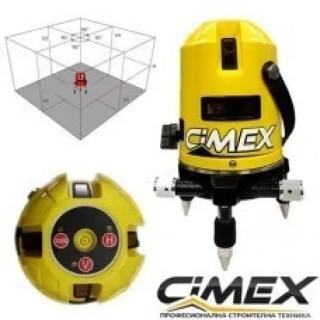 Лазерен нивелир с 5 лъча, самонивелиращ Cimex 1H4V