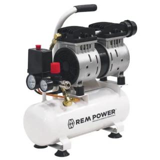 Безмаслен компресор с електродвигател REM Power EL 141/8/6л б 8 bar, 6 л