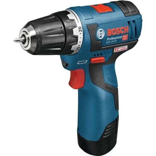 Акумулаторен винтоверт Bosch GSR 12V-20 Professional (2 х 2,0Ah)