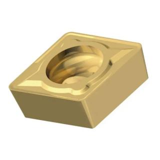 Пластина Fervi за стругарски нож твърдосплавна за престъргване упорен, R 0.4 мм, 9.53x3.97 мм, 80 °, CCMT