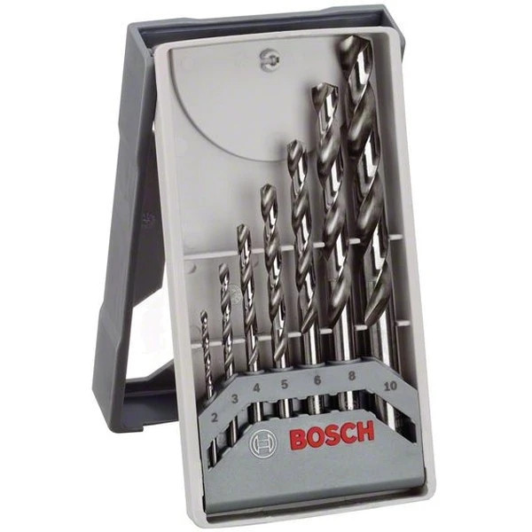 Свредла за метал HSS-G DIN 338 Mini-X-Li на Bosch комплект 7 бр.
