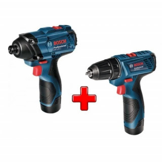 Комплект акумулаторни инструменти Bosch GDR 120-LI + GSR 120-LI