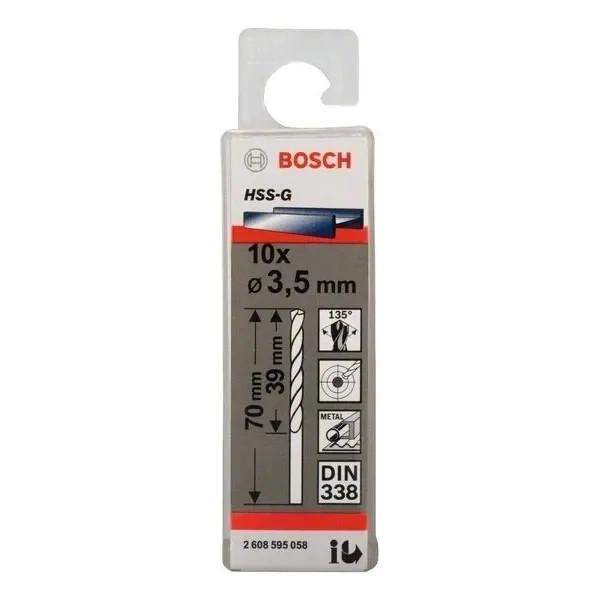 Свредло HSS-G за метал на Bosch 3.5 mm комплект 10 броя