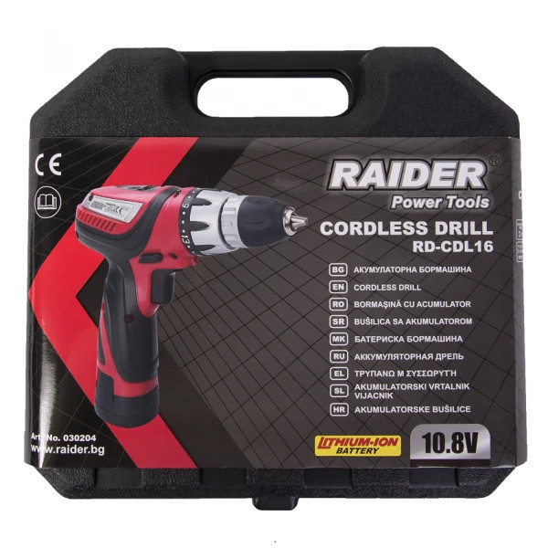 Акумулаторна бормашина Raider RD-CDL16 22Nm