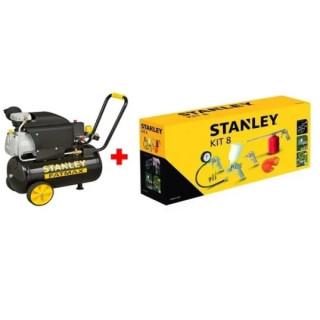 Компресор STANLEY D211/8/50S 50 л. + 9045671 Stanley /8 части за компресор/