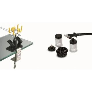 Аерограф комплект за боядисване и стойка GAV Minipaint100+SMP