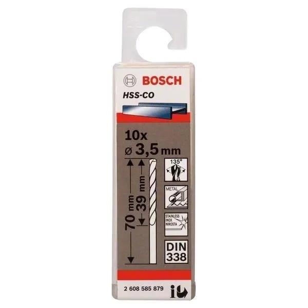 Свредло HSS-Co Standard line за метал на Bosch 3.5 mm - 10 броя