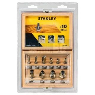 Комплект универсални фрезери STANLEY STA80020 / 10 бр. /