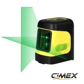 Лазерен нивелир със зелен лъч - кръстосани линии CIMEX SL10MG